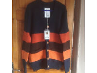 Quality wool knit cardigan brand-new, available in size M & L quick sale at £35 each