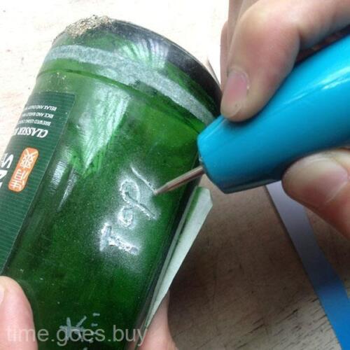 Mini Electric Engraving Pen Carving Paintbrush With 2 Tips DIY Toys Repair Tool