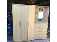 Wardrobe & drawer unit