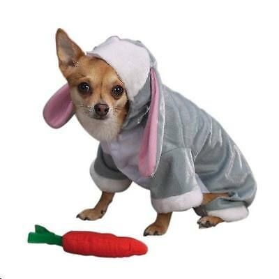 Extra Small Bunny Rabbit Dog Halloween Costume  free Carrot toy Pet Costume USA