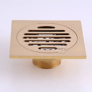 Square Floor Waste Grates Bathroom Shower Drain Copper