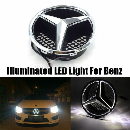 Front grille grill star emblem illuminated led light for for Mercedes benz symbol light