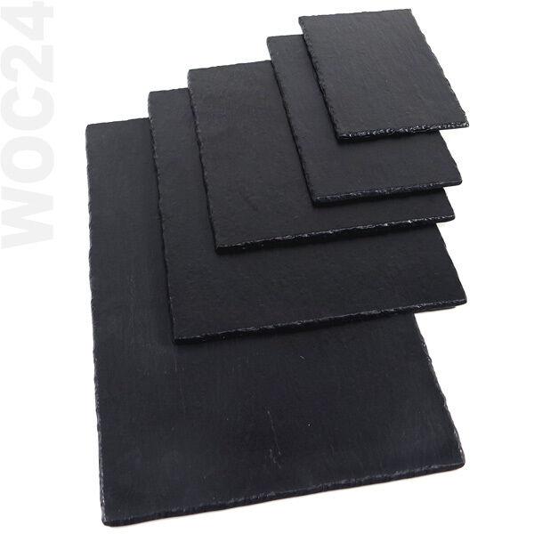 Platzset Dekoelement Servierplatte 6x Schieferplatten Rund ø 30 cm Teller