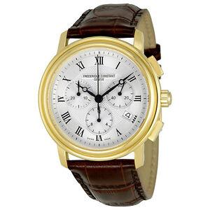 Frederique Constant Classics Brown Leather Mens Watch 292MC4P5-AU