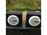 Alpine speaker and alpine amplifier