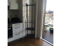 Shelving unit - cast iron and glass