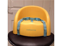 Mothercare booster seat with straps