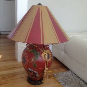 Stunning Handpainted Lamp