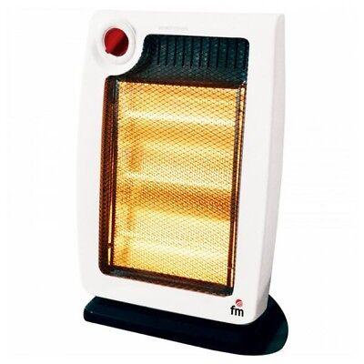 Estufa calefactor Electrico Halogeno 1200W Blanco/Negro FMH20,calefaccion,hogar