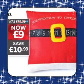 Christmas countdown cushion
