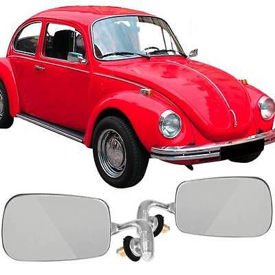 VW BUG RIGHT Side Door MIRROR SEDAN 68-79 EMPI 98-8572 Chromed Silver 1pc Beetle