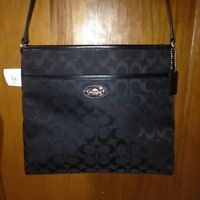 BRAND NEW BLACK AUTHENTIC LARGE COACH CROSSBODY