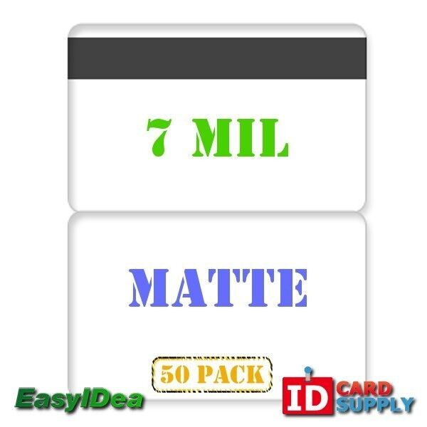 QTY: 50   7 mil Matte Butterfly Laminating Pouch with Hi-Co Magnetic Stripe