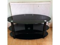 Black Glass TV Stands