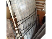 metal double bed frame with matress