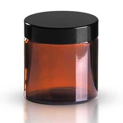5 x Glastiegel 120ml Braunglas inkl. Schraubverschluss mit Dichtungsscheibe