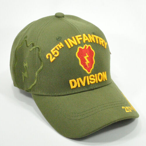 25th INFANTRY DIVISION OLIVE GREEN US ARMY ACRYLIC BASEBALL CAP HAT 25th INF DIV