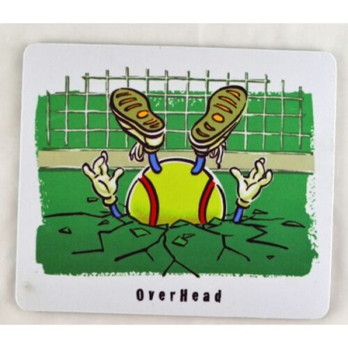 """Tennis """"OVER HEAD"""" Mouse Pad"""