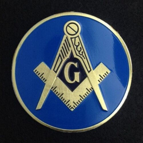 Masonic Car Auto Emblem (Light Blue) MAE-1