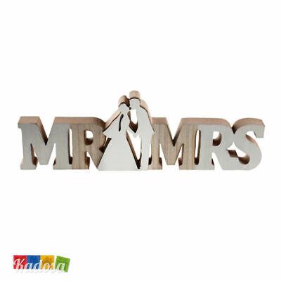 Centro Tavola Scritta MR & MRS in Legno - Sposi Wedding Anniversario Idea Regalo](Wedding Centerpieces Ideas)