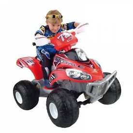 12v Quad Feber Brutale. Brand new, built and ready to go. Suitable for children age 3+