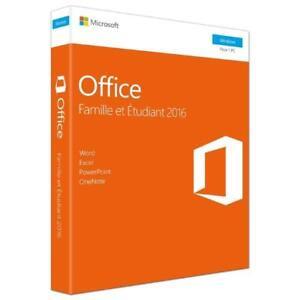 Microsoft Office Famille et Étudiant 2016 - 1PC Product Key - French - 79G-04583