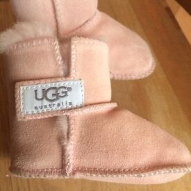 Ugg pink boots baby Erin size 1 .