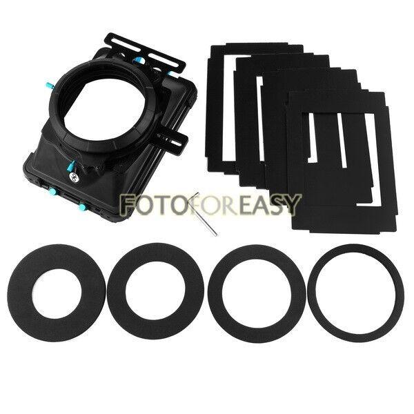 """FOTGA DP3000 PRO Matte Box 4:3 16:9 Board 4X4""""Filter Trays for 15mm Rod DSLR Rig"""