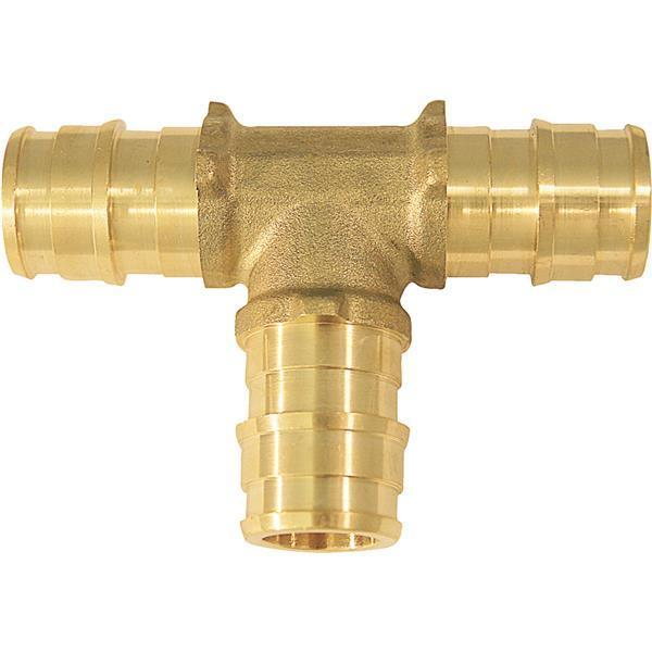 "50-PEX Crimp Pipe Brass Insert Fittings Type A 1/2"" X 1/2"" X"