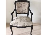chair in french twill linen