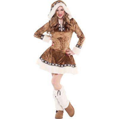 Teen Bunny Costume (Teen Girls Junior Snow Bunny Costume Medium 7-9 Female Cute Dress Faux)