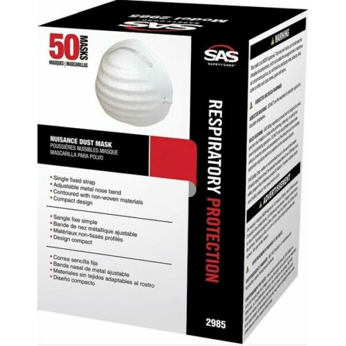 SAS 2985 50 pcsDisposable Nuisance Dust Protection Safety Respirater
