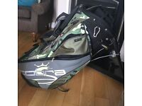Cobra camouflage golf bag with automatic stand