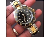 Rolex Submariner black gold ceramic bezel ***REDUCEDDD £155***