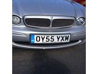 Jaguar x type 2.0 td sport half leather silver 55 plate vgc