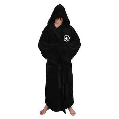 Star Wars Darth Vader Herren Luxus Bademantel schwarz Mantel neu