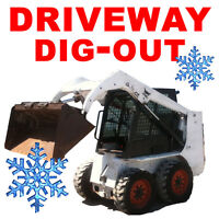 DRIVEWAY Snow Dig-Out - SNOW BANK Removal