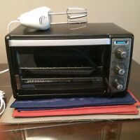 Toaster Oven and Beater for sale