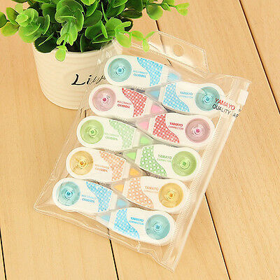 Package of 10 Assorted Colors Yamayo Mini Correction Tape