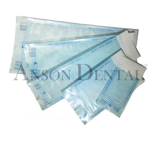 Best NEW DENTAL SELF SEAL STERILIZATION POUCH POUCHES BAG DUAL INDICATOR TATTOO BEAUTY