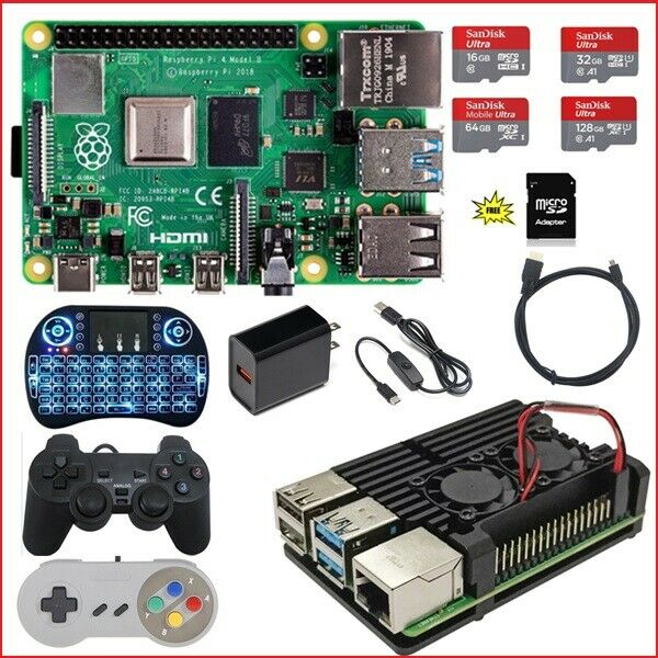 Raspberry Pi 4 Model B (4G, 2G, 1G) Diy Kit  & Aluminum Alloy Enclosure Dual Fan Computers/Tablets & Networking
