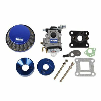 HMParts Pocket Bike Mini Cross Tuning  Vergaser - Set 47 / 49 ccm 15 mm blau
