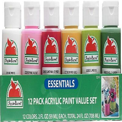 12 Pack Acrylic Color Paint Value Set Non Toxic Water Based Art Craft Supply
