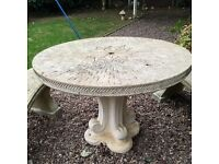 Cotswold stone garden table and benches