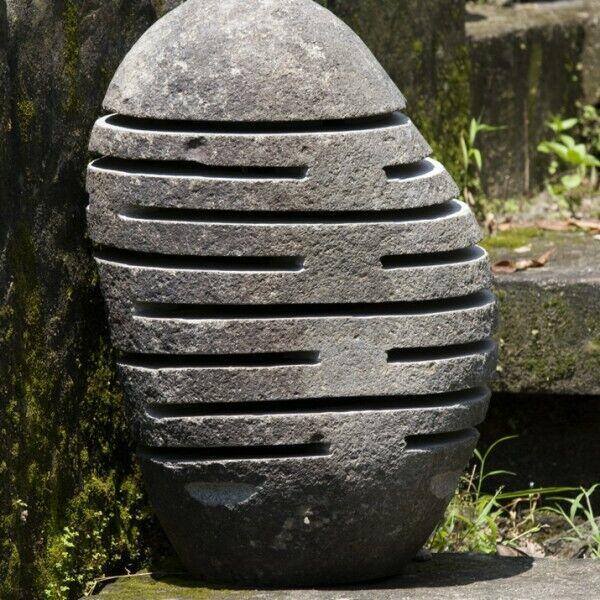 wohnfreuden Gartenleuchte Flussstein Gr. M 30x30x50cm Stein Leuchte Boden-Lampe