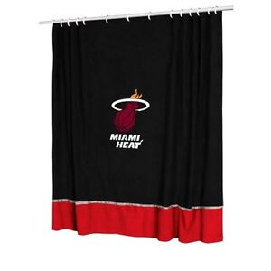NBA Basketball Miami Heat Shower Curtain