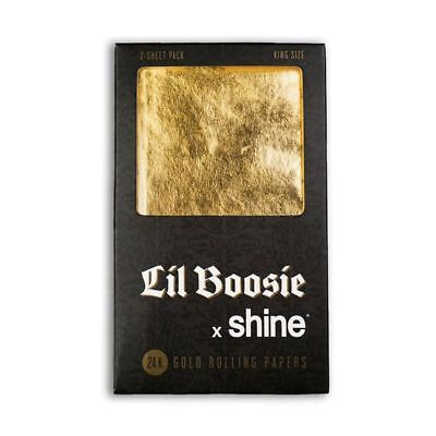 Shine Lil Boosie X Shine King Size Rolling Papers 2-Sheet Pack (Shine Paper)