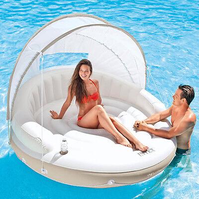 INTEX Canopy Island 199cm Schwimmliege Pool Wasserliege Badeinsel Luftmatratze