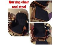 Nursing Chair and matching stool - in great condition