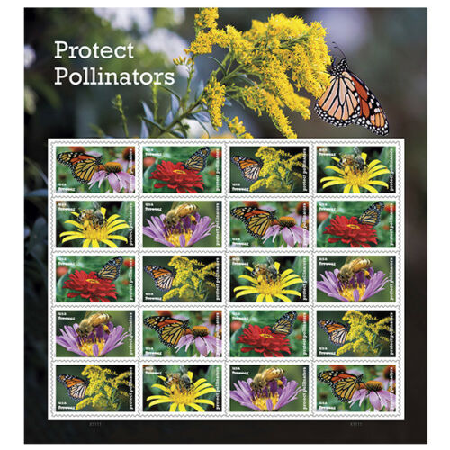 USPS New Protect Pollinators Full Pane of 20